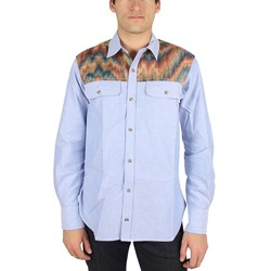 Civil Clothing - Mens The Hendrix Long Sleeve Shirt in Blue w/Acid Camo