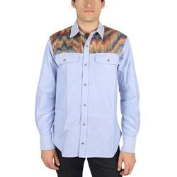 Civil Clothing - Mens The Hendrix Long Sleeve Shirt in Blue w/Acid Camo