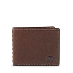 Fossil - Andover Traveler Dark Bifold Wallet in Brown