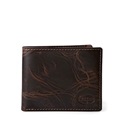 Fossil - Norton Zip Bifold Wallet in Brown