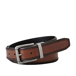 Fossil - Derek Reversible Dark Belt in Brown