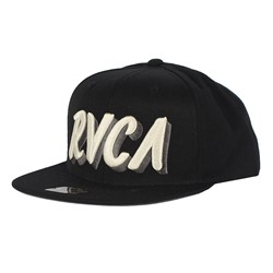 RVCA - Sign Away Starter Snap Back Hat In Black