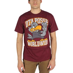 DTA/Rogue Status - Mens Dukes Up T-Shirt in Burgundy/Orange