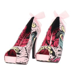 Iron Fist - Womens Grave Dancer Peep Toe Platform In Pink