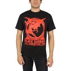 Black Sabbath - Mens Europe 75 Tour T-shirt in Black