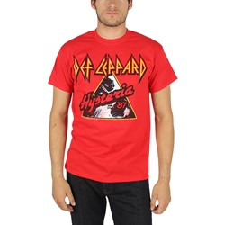 Def Leppard - Mens Hysteria '87 T-Shirt In Red