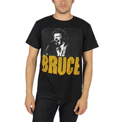 Bruce Springsteen - Mens Live Head Shot Photo T-Shirt In Black