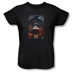 Four Horsemen - Womens Book One T-Shirt In Black