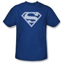 Superman - Mens Blue & White Shield T-Shirt In Royal