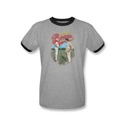 Bad News Bears - Mens Vintage Ringer T-Shirt In Heather/Black