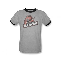 Friday Night Lights - Mens East Dillion Lions Ringer T-Shirt In Heather/Black