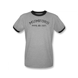 Beverly Hills Cop - Mens Mumford Ringer T-Shirt In Heather/Black