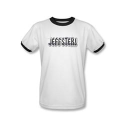 Chuck - Mens Jeffster Ringer T-Shirt In White/Black