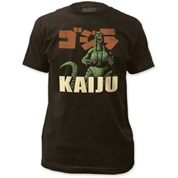 Godzilla - Mens Kaiju Fitted Jersey T-Shirt In Coal