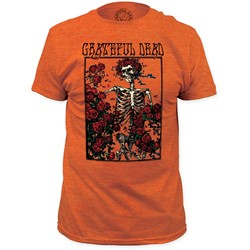 Grateful Dead - Mens Bertha Fitted Jersey T-Shirt In Heather Orange