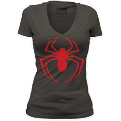 Spider-Man - Red Logo Women's Deep Vee Tunic In Dark Grey