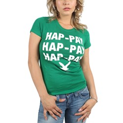 Duck Dynasty - Womens Hap-Pay T-Shirt in Kelly Green