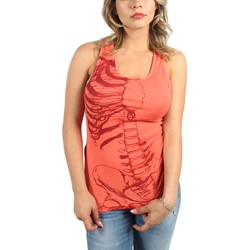 Iron Fist - Womens Caged Rib Tank Top In Coral