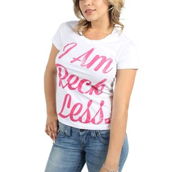 Young and Reckless - Womens I Am Reckless T-Shirt in White