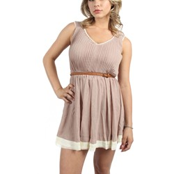Double Zero - Womens Kelsey Dress in Taupe