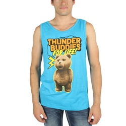 Ted - Mens Thunder Buddies Tank Top in Blue