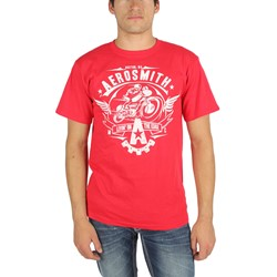 Aerosmith - Mens Livin' On The Edge T-Shirt in Red