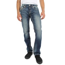 Rock Revival - Mens Tony Straight Leg Jeans in T2 Denim