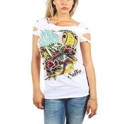 Sullen - Womens Hypnotize Lct Top in White