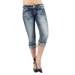 Rock Revival - Womens Sasha Capri Jeans in P31 Denim