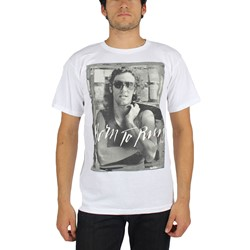 Bruce Springsteen - Mens B&W Born To Run T-Shirt In White