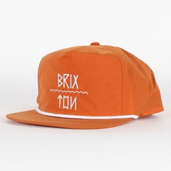 Brixton - Mens Morro Snapback Hat in Orange