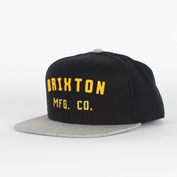 Brixton - Mens Arden Snapback Hat in Black/Grey