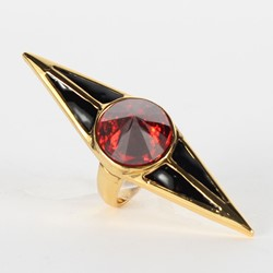 Han Cholo - The Protector Stone Ring in Gold/Red