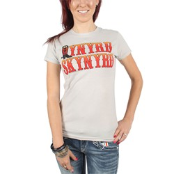 Lynyrd Skynyrd - Womens Boot Logo T-Shirt in Silver