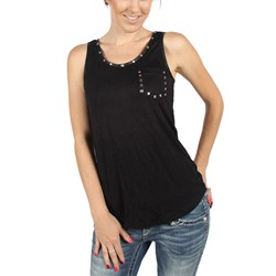Double Zero - Womens Robyn Sleeveless Top in Black