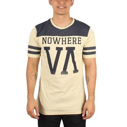 RVCA - Mens Nowhere Jersey Shirt in Natural/Navy