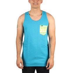 Neff - Mens Savages Pocket Tank Top in Turquoise