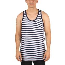 G-Star Raw - Mens Attolini Stripe Loose Regular Tanktop In Sapphire Blue