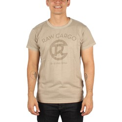 G-Star Raw - Mens Rco Logo Round-Neck T-Shirt Robinson Jersey Overdye In Khaki