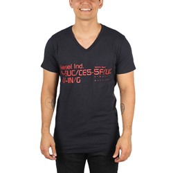 Diesel - Mens T-Bagh-RS T-Shirt in Total Eclipse