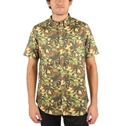 Rebel8 - Jungle Camo Mens Shirt in Green