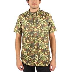 Rebel8 - Jungle Camo Mens Shirt in Green