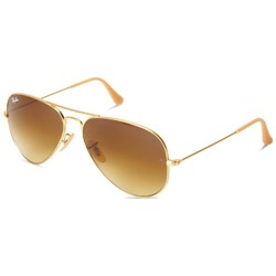 Ray-Ban - Mens Aviator Sunglasses in Matte Gold, Eye Size: 58mm