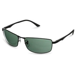 Ray-Ban - Mens Rectangle Sunglasses in Black, Eye Size: 61mm
