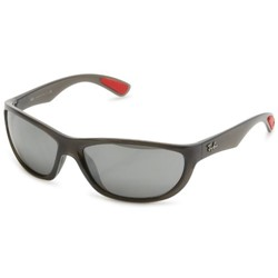 Ray-Ban - Mens Oval Sunglasses in Grey, Eye Size: 63mm