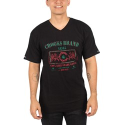 Crooks & Castles - Mens Ganja V-Neck Shirt in Black