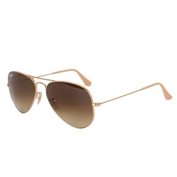 Ray-Ban - Mens Aviator Sunglasses in Gold/Brown