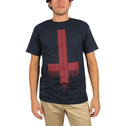 Mishka - Mens Cyrillic Heretic T-Shirt in Navy