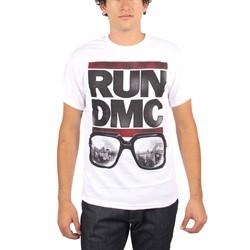 Run DMC - Mens Glass NY T-Shirt in White