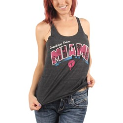 T.I.T.S. (Two In The Shirt) - Womens Greeting From Miami Racerback Tank Top in Black